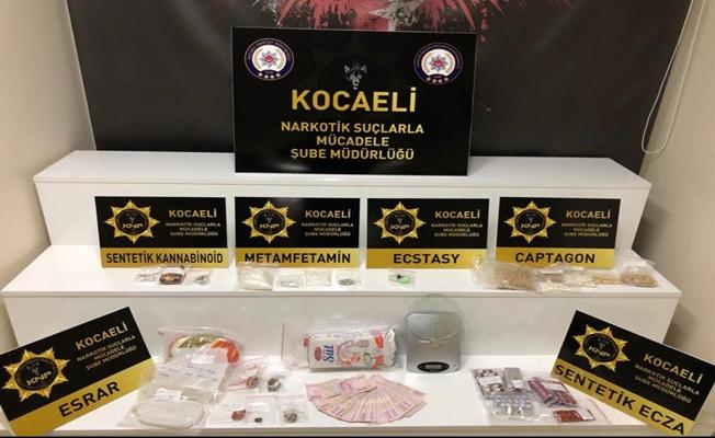 Kocaeli'de gerçekleştirilen uyuşturucu operasyonunda 9 kişi yakalandı