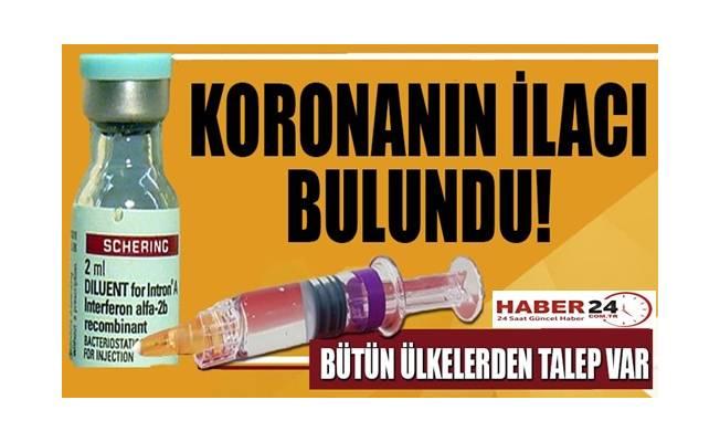 Koronanın ilacı bulundu!Ülkelerden talep var