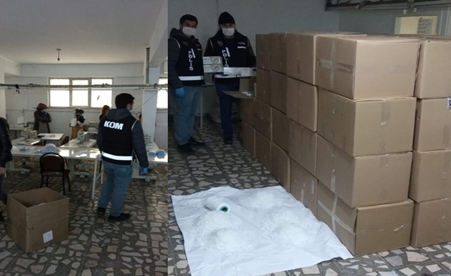 Darıca'da 90 bin adet kaçak maske yakalandı