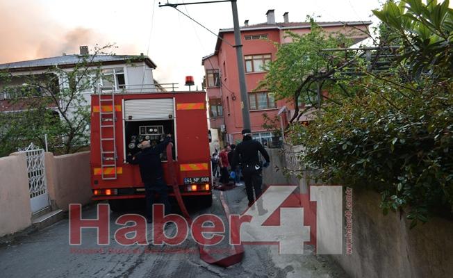 Gebze'de çıkan yangın mahalleliyi korkuttu!