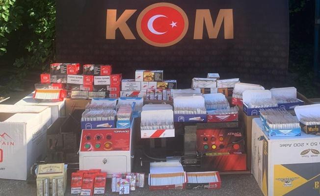 Tütün kaçakçıları polise yakalandı!