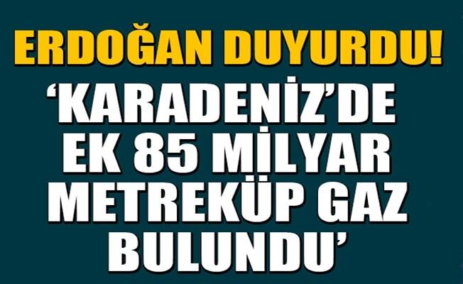 Karadeniz'de ek 85 Milyar Metreküp gaz bulundu