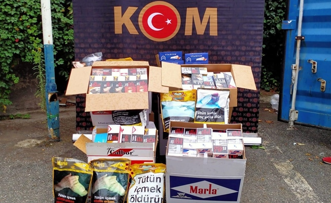 Körfez'de 5 iş yerine kaçak sigara operasyonu !
