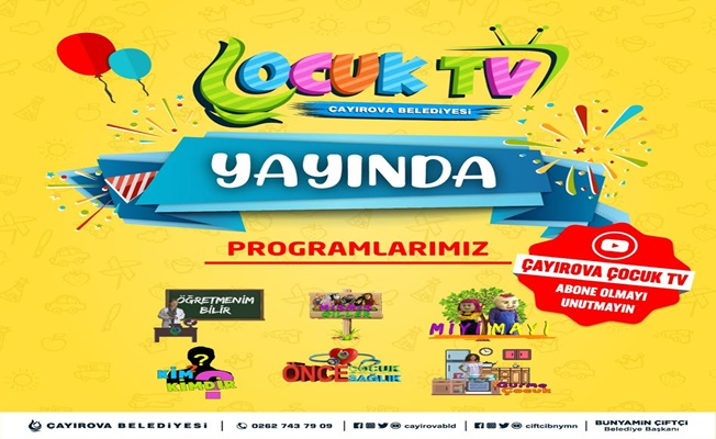 Çayırova Belediyesi Çocuk TV yayında