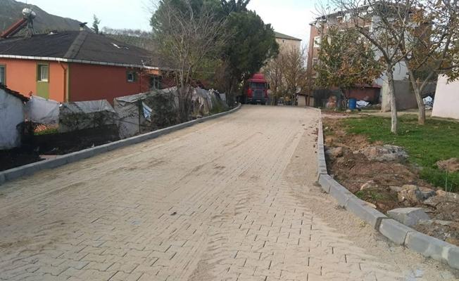 Gebze'de parke yol çalışması