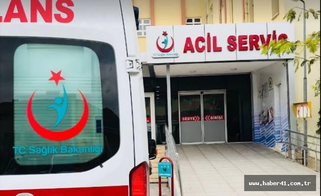 Karamürsel'de iş makinasının çarptığı yaya yaralandı !