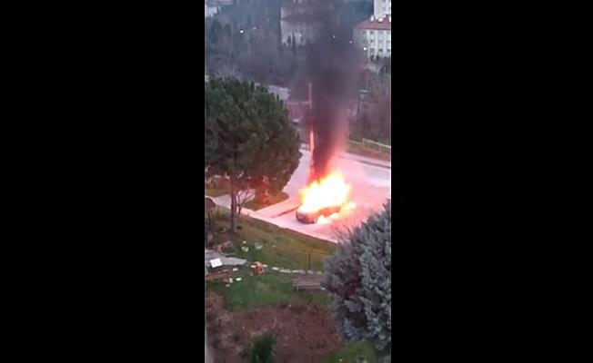 Aracı patlayan genç yanarak can verdi!