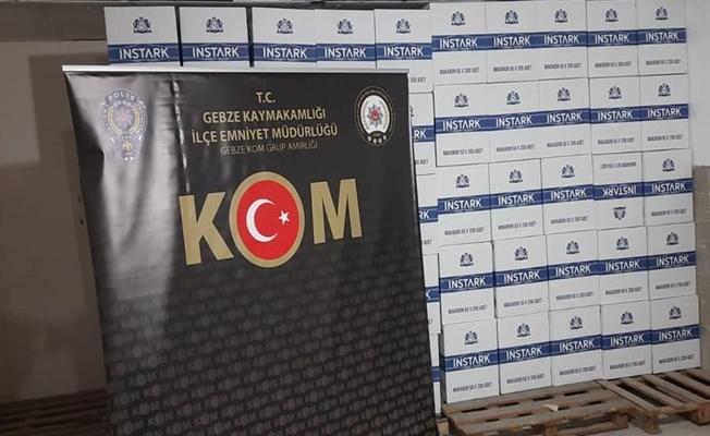 Osmangazi Köprüsü'nde bir araçta 3 milyon boş makaron bulundu!
