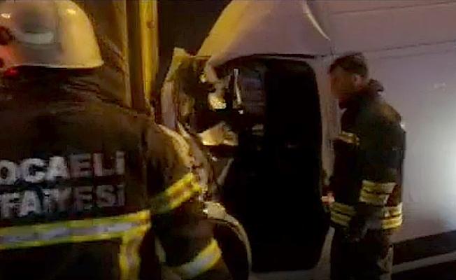TEM'de feci kaza;2 yaralı!