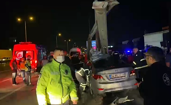 Gebze'de feci kaza ; 1 ölü ,2 yaralı!