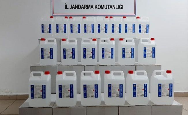 Gebze'de 700 litre sahte etil alkol ele geçirildi