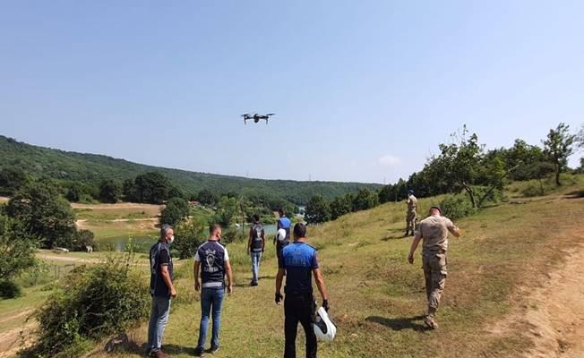 Kocaeli'de ormanlık alanlar drone ile denetleniyor