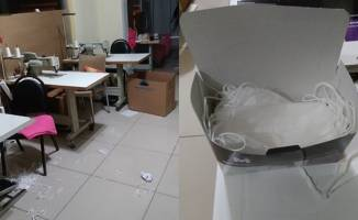 Kocaeli'de kaçak maske üretimi