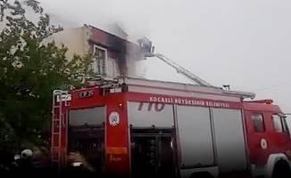 Yangında mahsur kalan 5 kişi kurtarıldı