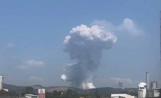 Havai fişek fabrikasında çok şiddetli patlama