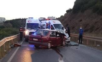 Pelitli yolunda feci kaza!