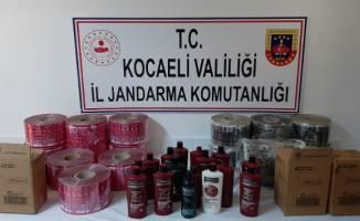 Kocaeli'de binlerce sahte temizlik maddesi ele geçirildi