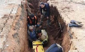 Göçük altında kalan işçi kurtarıldı!