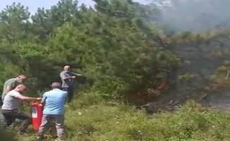 Sağlık çalışanlarının müdahalesiyle yangın büyümeden söndürüldü!