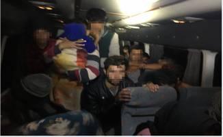 TEM'de durdurulan araçta 40 kaçak göçmen yakalandı