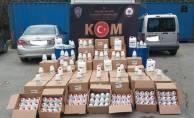 Kocaeli'de kaçak dezenfektan üreten imalathaneye baskın