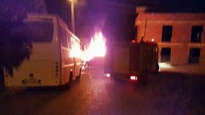 köşklüçeşme mahallesinde araç yangını