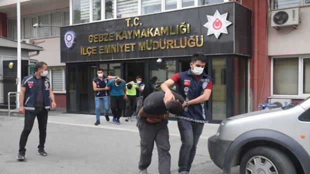 Kombi hırsızları Gebze asayiş ekiplerine takıldı!