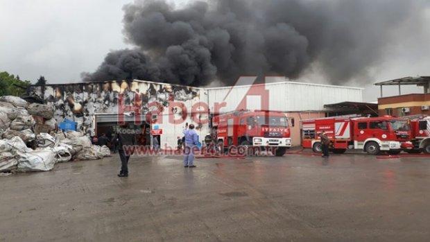 Pelitli Köyünde Lojistik Depo Yangını