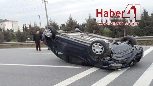 Gebze D100'de Kaza 4 Yaralı