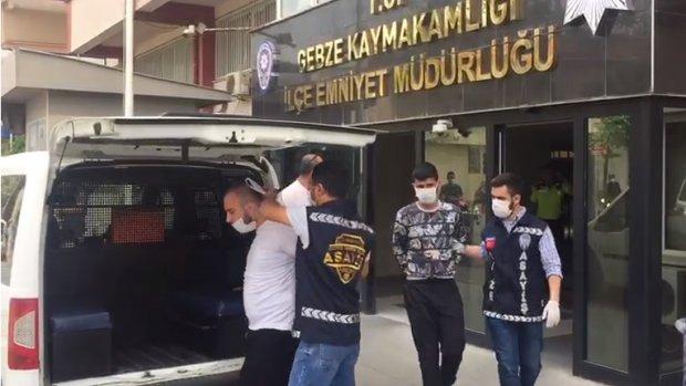 Gebze'de 2 kişiyi gasp eden 3 şüpheli tutuklandı